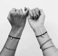 argento blocco Charm Bracelet di titanio molti colori trasporto di corda gioielli a goccia