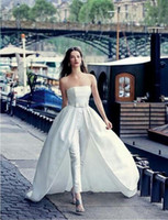 2018 New Sweetheart Jumpsuit Wedding Dresses With Overskirts...