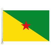 Французский флаг Гвианы, 90 * 150см, 100% полиэстер, баннер, цифровая печать