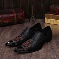 NEUE 2018 Mode Mann Kleid Schuhe Persönlichkeit Mode Mann zeigte hochhackige Schuhe Stylist Friseur Schuhe Leder, US6-US12