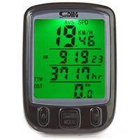 Fahrrad-Computer schließen Batterie-wasserdichten Radfahren-Kilometerzähler mit grünem LCD-Hintergrundbeleuchtung-Fahrrad-Computer SD-563B mit ein