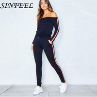 SINFEEL Women 2 Piece Set Top and Pants Casual Woman Set Gra...
