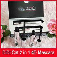 DiDi caliente del gato 4D Mascara de pestañas pestañas DIDI gato Extenisions con fibra de DDK de DHL Mascara