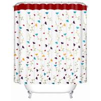 """Marque Feiqiong Vogue design bain rideaux Laneige fleur de rideau de douche 72"""" X 72"""" 100% polyester avec crochets"""