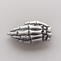 Nueva hebilla de cinturón de esqueleto vintage Skull Finger