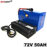 Livraison gratuite batterie e-bike 72V 50AH vélo électrique batterie au lithium ion 18650 20S 72V 3000W + 5A chargeur UE US AU Duty Free