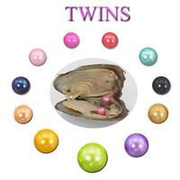 Takı Hediye için Vakum Paketi 25 renk En kaliteli Çember doğal inci Karışık Twins incilerle 2018 DIY 6-7mm Tatlısu akoya istiridye