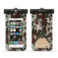Yeni Coming Kamuflaj Evrensel Kapak Su geçirmez Telefon Kılıfı iPhone X 7 6 Samsung Coque Kılıfı Su Geçirmez Çanta Kılıf yüzün Su Geçirmez Kasa