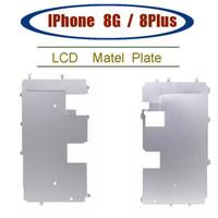 لوحة معدنية للحصول على 8 8G 4.7 بوصة LCD محول الأرقام المعدنية للخلف لوحة درع الحافة للحصول على 8plus بالإضافة LCD أجزاء استبدال العرض