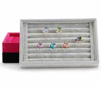 22.5x14.5x3cm tamaño pequeño anillo de exhibición de la joyería de terciopelo Pantalla de almacenamiento más colores para la opción de envío gratis