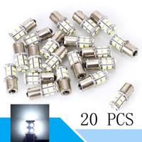 20 Pcs 5050 13SMD LED Ampoule BA15S 1156 1003 1141 Remorque Intérieur Lumière Tour Signal Feux de freinage DC 12 V Voiture Styling Accessoires