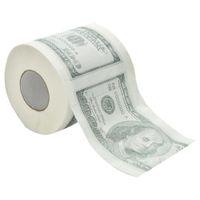 ZZIDKD 1 cent Dollar Bill imprimé papier toilette Amérique US Dollars tissu nouveauté drôle 100 $ TP