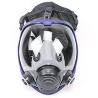 Tsai de la cara llena de ciclo al aire mascarilla antigás de Lucha contra el polvo de seguridad con filtro de algodón de Pintura de la Industria