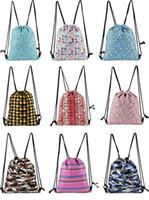 배낭 여행 야외 가방 유니콘 패션 Drawstring 가방 여자 여자 남성 학교 학생 Drawstring 가방 위장 배낭 by0380