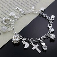 Fine 925 Sterling Silver Bracelet for Women Men, Fashion 925 ...