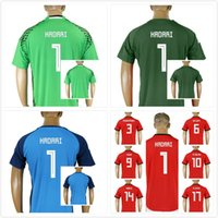 a645ffb52 Custom 2018 World Cup Egypt Soccer Jersey M. SALAH 1 HADARI Home Red  Goalkeeper 18 19 KAHRABA A. HEGAZI RAMADAN uniforms football shirts