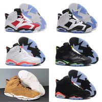 6s carmine BASKETBALL SHOES kids 6s UNC BLACK BLUE WHITE INF...