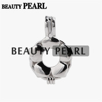 5 Pieces Pearl Pendant Mount Gift Flower Cage Love Wish Pear...