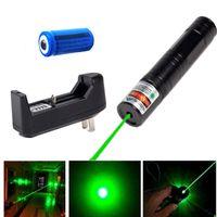 Botão do interruptor de 850 Laser Verde Caneta Ponteiro 532nm Feixe de Luz Visível Verde Caneta Laser + 16340 Bateria + Carregador