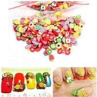 Neue populäre Früchte Tiere Blumen 3D Nagel-Aufkleber Frauen-Mädchen-bunte Karikatur-Nagel-Dekorationen Fimoton Series