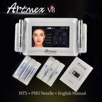ماكياج Artmex V8 الدائم الوشم آلة العين الحاجب الشفاه الروتاري القلم V6 MTS PMU نظام دي إتش إل الحرة
