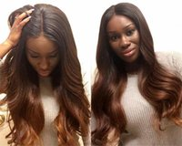 Two Tone 1B 30 130 Density Glueless Full Lace Human Hair Wig...