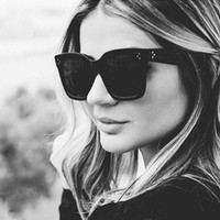 نظارات شمسية نسائية البلاستيك ساحة نظارات ظلال ذكر اسود نظارات الرجال نقاط برشام نظارات شمسية Oculos دي سول 5PCS بالجملة