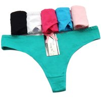 Pack de 36 Low Rise Solid Tanga de algodón Cheeky Lady Panties Sexy Women Underwear Lady tanga Mujer T-back íntima Hot Lencería