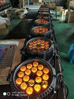 8 stücke Dj DMX RGBWA UV Wasserdichte IP65 Led Par Dosen rgbwa uv 6in1 led wand waschen par licht outdoor par led 18x18 watt
