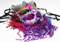 Máscara de los niños, nueva máscara estética europea y americana, Venice Princess velo sexy party ball mask L155