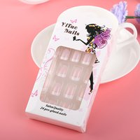 24Pcs New Charming Women French Style DIY Manicure Art Tips ...