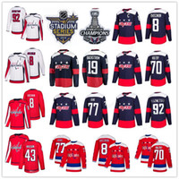 Washington Capitals 8 Alex Ovechkin 43 Tom Wilson 19 Nicklas Backstrom 77 Oshie 70 Braden Holtby 92 Evgeny Kuznetsov Maglia rossa alternativa