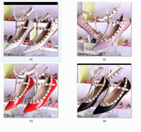 2018 Mode flache Schuhe europäischen Stil Designer Marke Sandalen Schuhe Damen Sandalen hohe Qualität helle Lederschuhe mit Box
