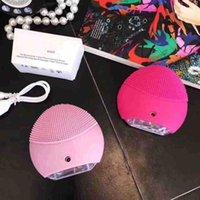 2019 미니 클렌저 미니 전기 초음파 미용 기기 실리콘 방수 클렌저 클린 세 가지 색상을 무료 배달 모공