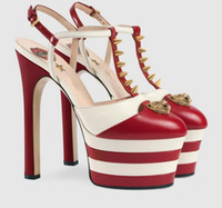Yaz Yüksek Topuk sandalet kadın çivili perçinler çivili bir kemer kayışı platformu T-show kadınlar için ayakkabı gladyatör salto alto zapatos de mujer