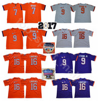 Clemson Tigers College 16 Trevor Lawrence Jersey Men Football 7 Austin Bryant 9 Travis Etienne Jr. Jerseys University Orange White Purple