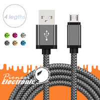 Cabo USB Micro USB tipo C Cabos 3FT 6FT 9FT Nylon trançado Data Sync Quick Charge Cabos Cabo para a Samsung LG Smartphone Android