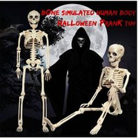 Großhandel !! Bewegliches Skelett Halloween Dekor Scary Man Bone Creepy Party Dekoration Bunte Happy Party DIY Dekoration