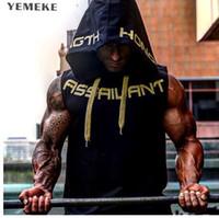 YEMEKE мужская хлопок толстовка кофты фитнес одежда бодибилдинг Майка мужчины без рукавов тенденция тис рубашка повседневная жилет
