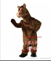 2018 High quality horse mascot costume adult size factory cu...