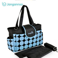 Large Capacity Baby Diaper Bags Polka Mummy Bag Waterproof F...