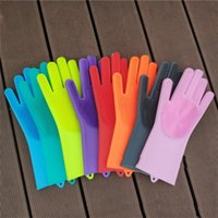 1 pair Silicone Cleaning Gloves Heat Resistant Household Glo...