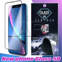 Per iPhone 12 Pro XS Max XR Bordo in vetro temperato in colla full a bordo pieno per la copertura completa per Apple 8 7 Plus Protector dello schermo