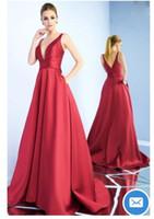 Бесплатная доставка линия платья выпускного вечера 2019 новые поступления vestidos de noiva длинные вечерние вечерние платья V шеи с двумя ремнями