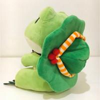 시뮬레이션 사랑스러운 여행 개구리 인형 장난감 개구리 인형 장난감 크리스마스 선물 가정 장식 선물 아이의 선물