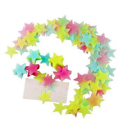 3D de la estrella de la luna etiqueta de la pared Estrellas Eco amigable decorativo de PVC de pared Decal Baby Kids Rooms Decoración