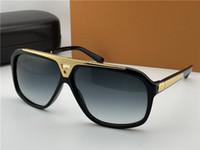 Доказательства очки миллионера Черный Золотой Серый затушеванный объектив мужские винтажные солнцезащитные очки Новые с коробкой