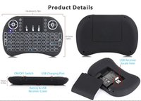 Chegada nova Air Mouse Em Controle Remoto I8 Backlit 2.4G Mini Teclado Sem Fio Com Touchpad para Mini PC Smart TV Box Laptop