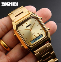 Skmei Explosion models men' s business double explicit q...