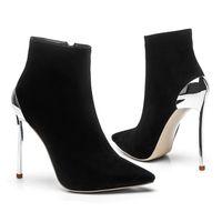 Дизайнер Женщины Мода Тонкий Каблук Обувь Модельер Женская Обувь Суперзвезды Мода Сапоги Сексуальные Острым Носом Женщины Платье Обувь Плюс Размер